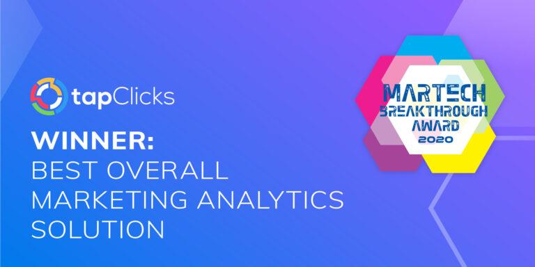 TapClicks: Winner Best Overall Marketing Analytics Solution