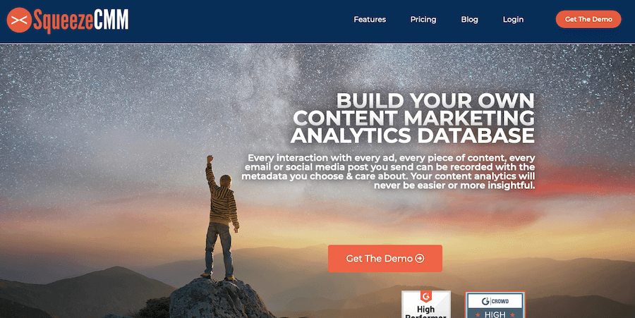 Squeeze CMM content marketing analytics and reporting software