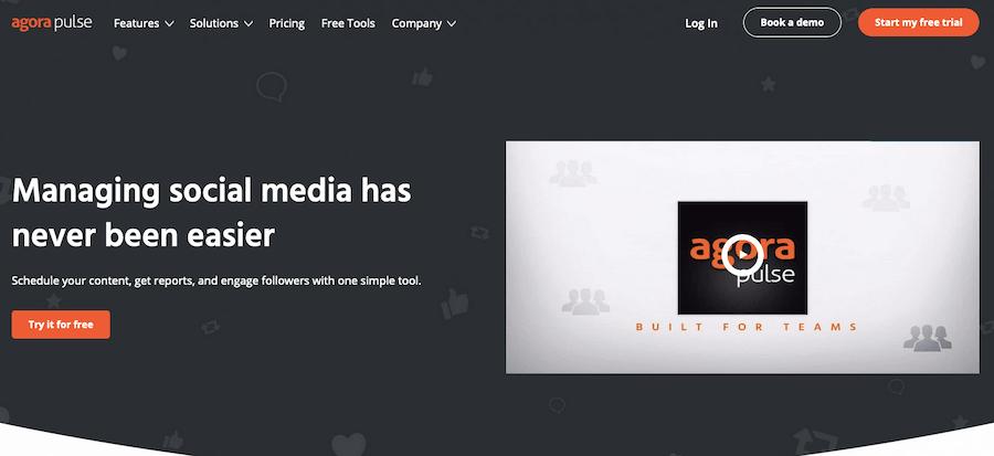 AgoraPulse social media reporting software