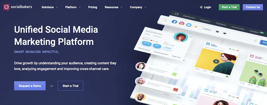 Socialbakers social media marketing software
