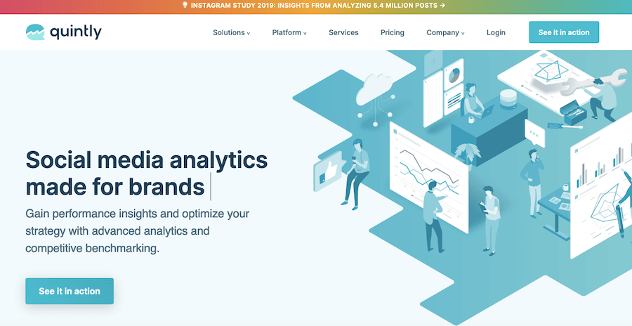Quintly social media analytics and reporting software
