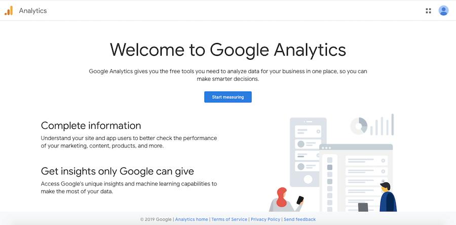 Google Analytics traffic analytics and reporting software