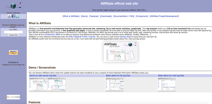 AWStats traffic analytics software