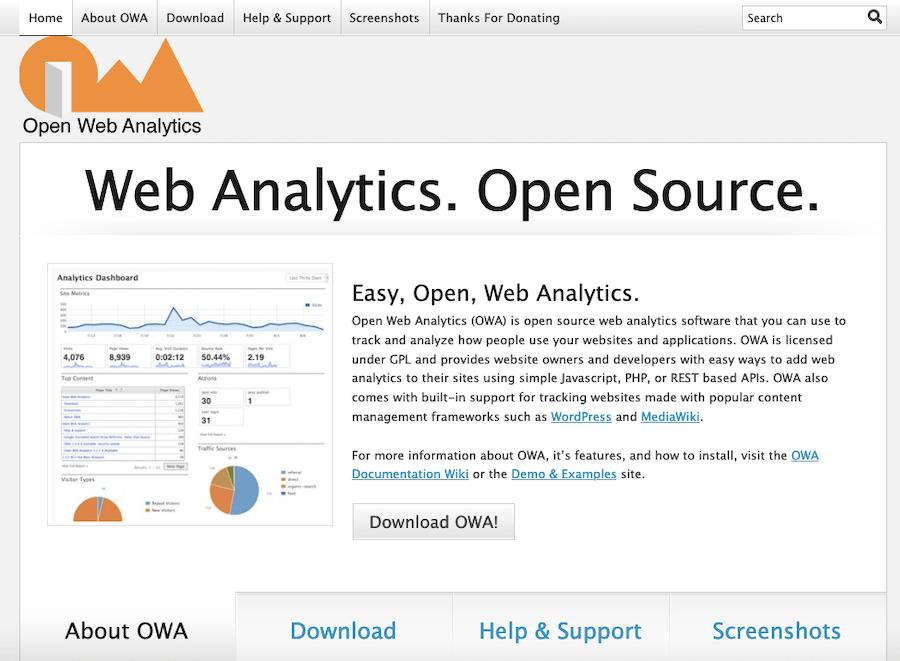 Open Web Analytics website analytics software