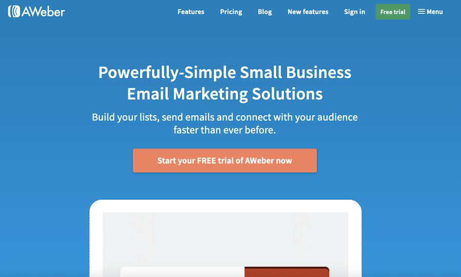 AWeber email marketing analytics software