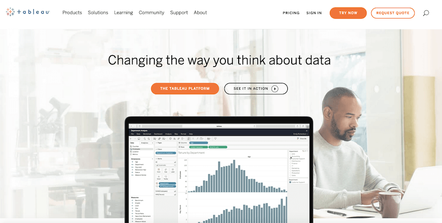 Tableau marketing analytics and reporting software