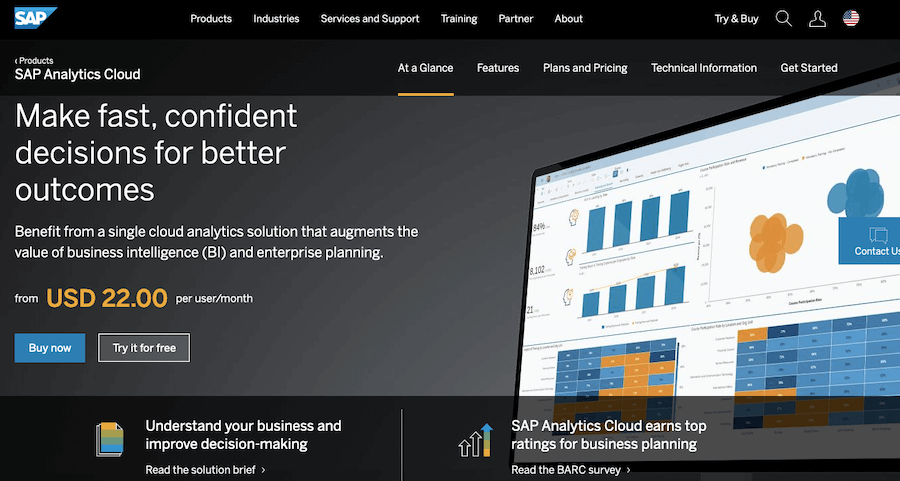 Best Reporting Tools #14: SAP Analytics Cloud