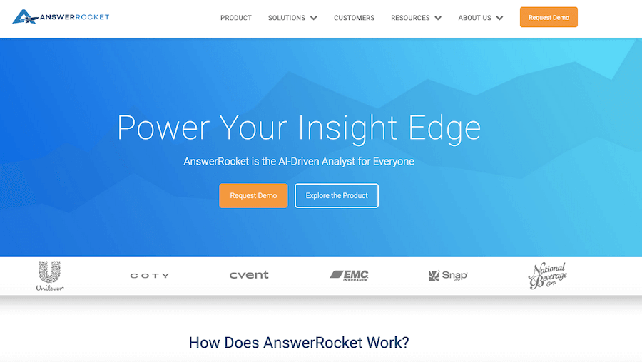 Best Reporting Tools #19: AnswerRocket