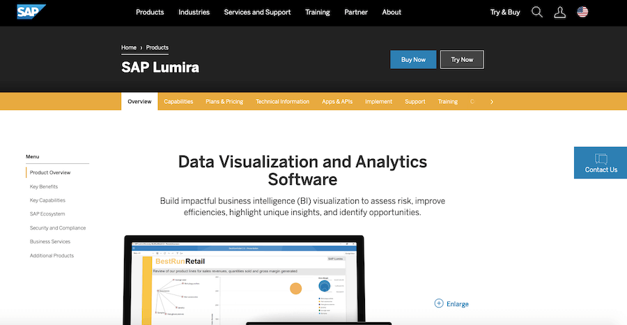 Best Reporting Tools #9: SAP BusinessObjects Lumira