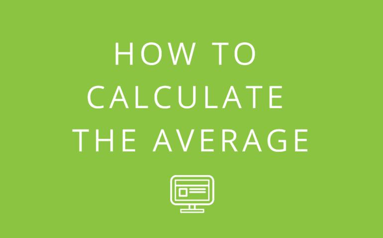 Calculate Average