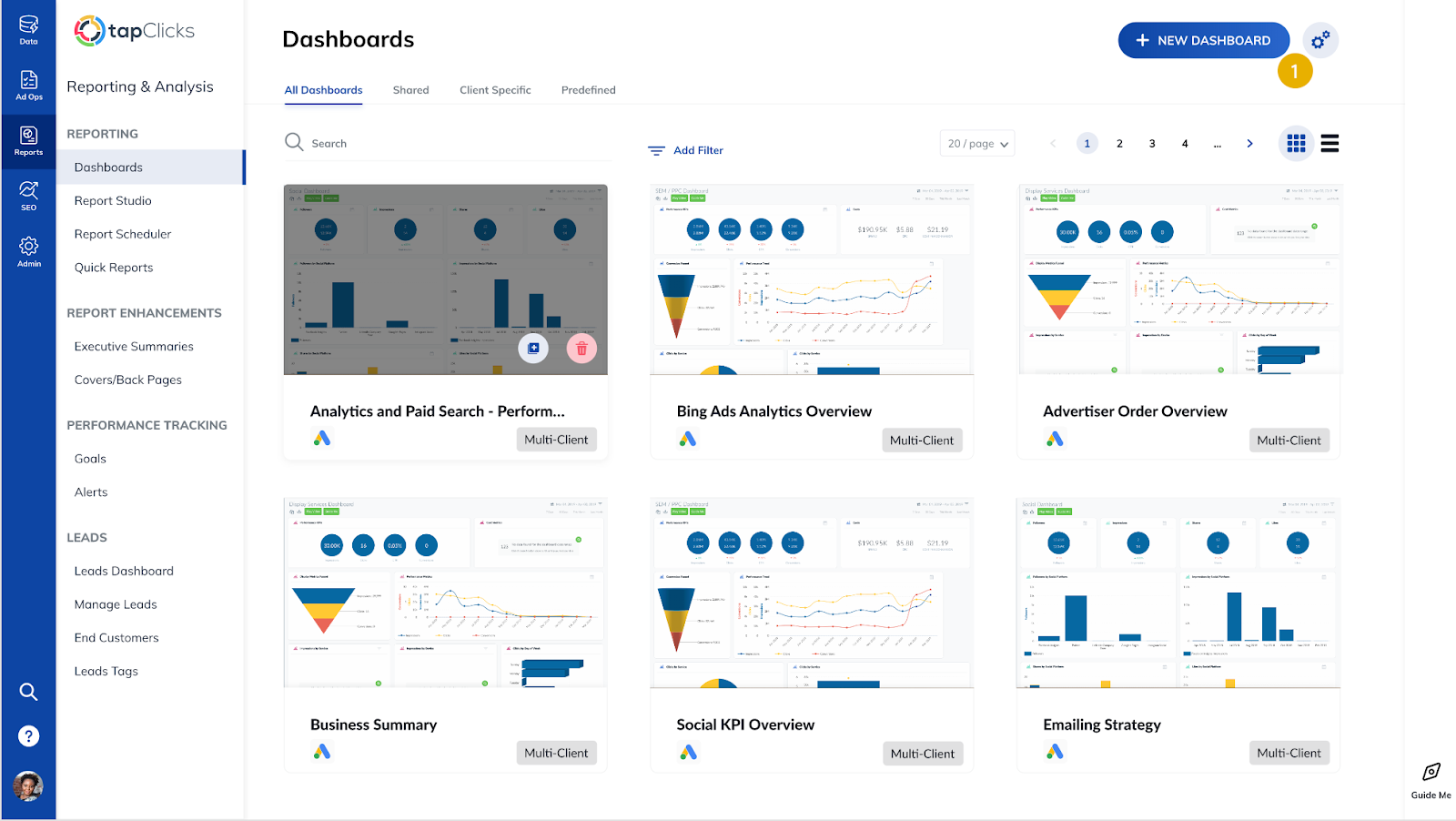 Advertising Dashboards by TapClicks